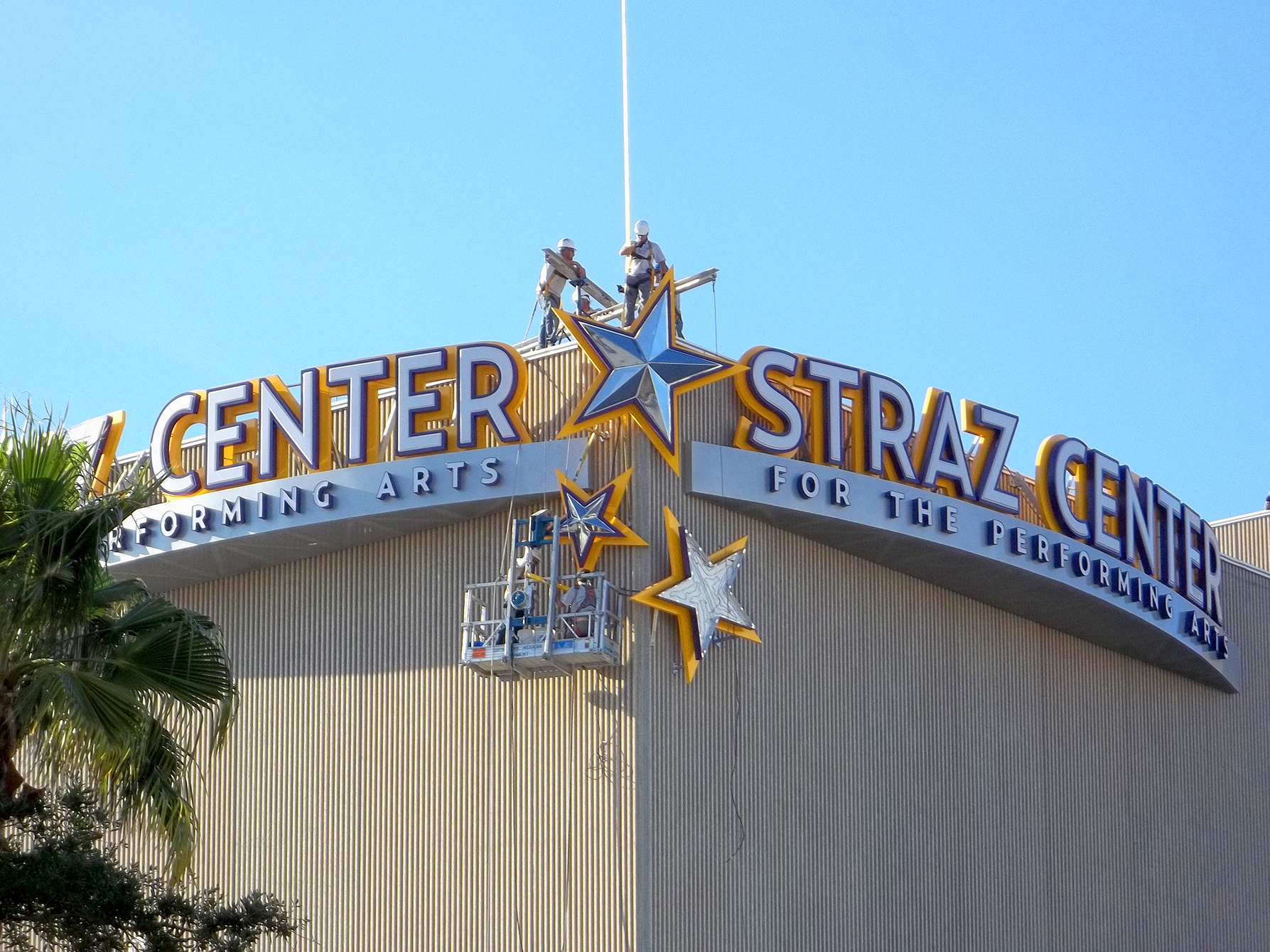 Stray Center sign install